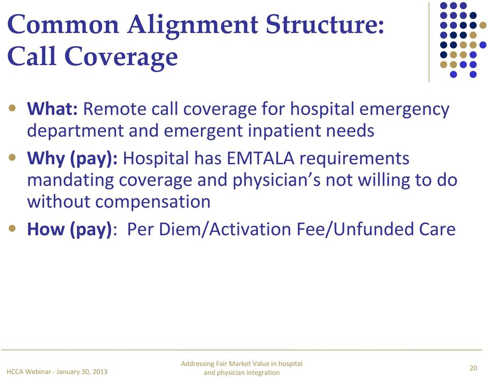 Hospital has EMTALA requirements mandating coverage and physician s not