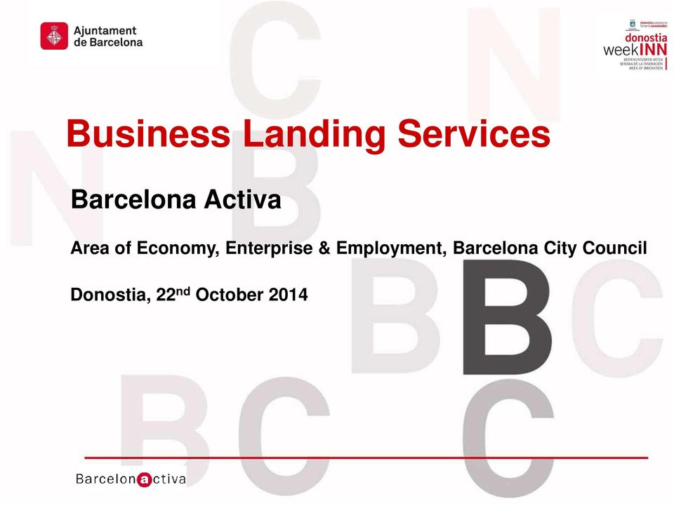 Activa Area of Economy, Enterprise & Employment,