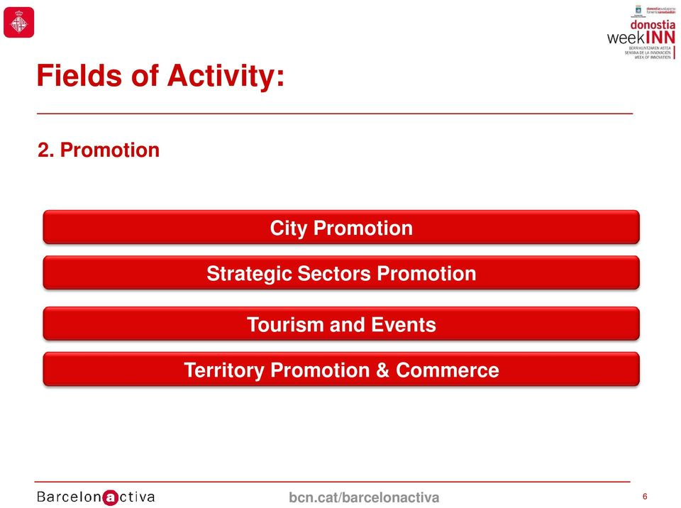 Sectors Promotion Tourism and Events