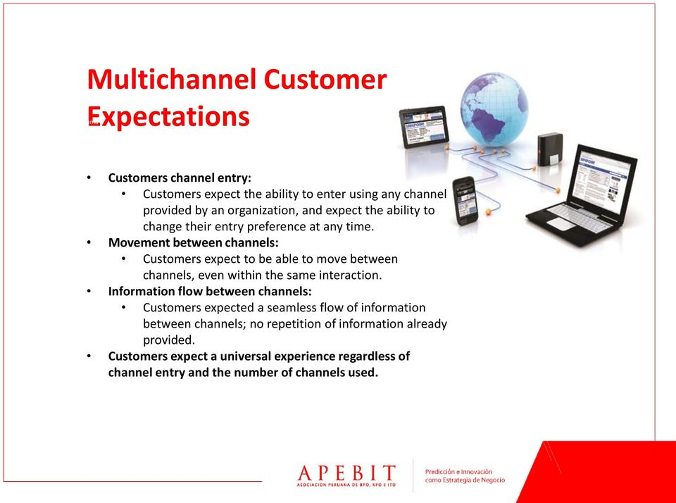 Movement between channels: Customers expect to be able to move between channels, even within the same interaction.
