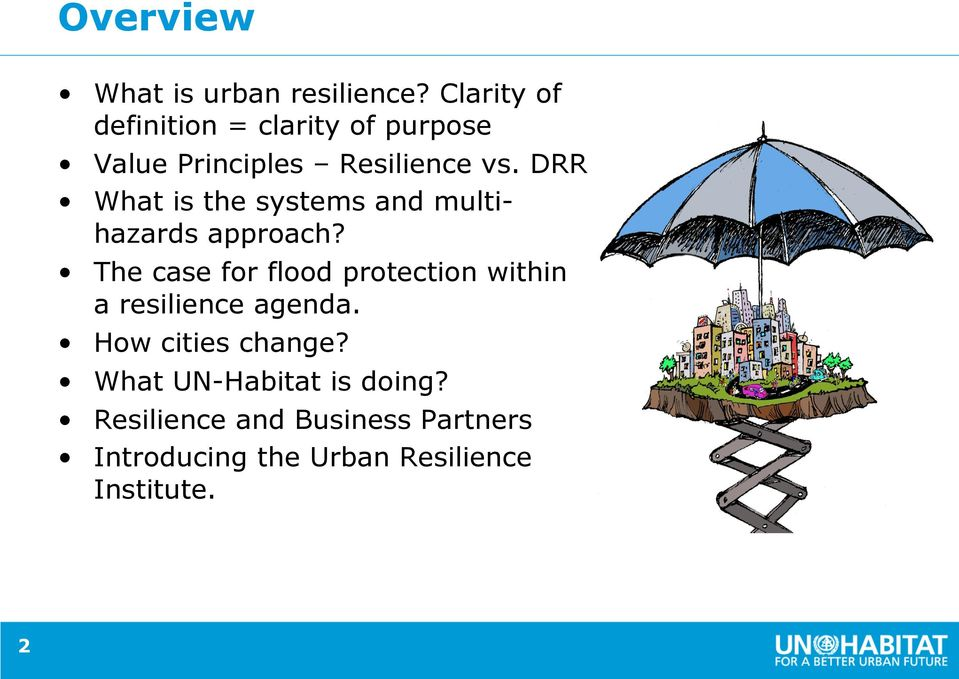 DRR What is the systems and multihazards approach?