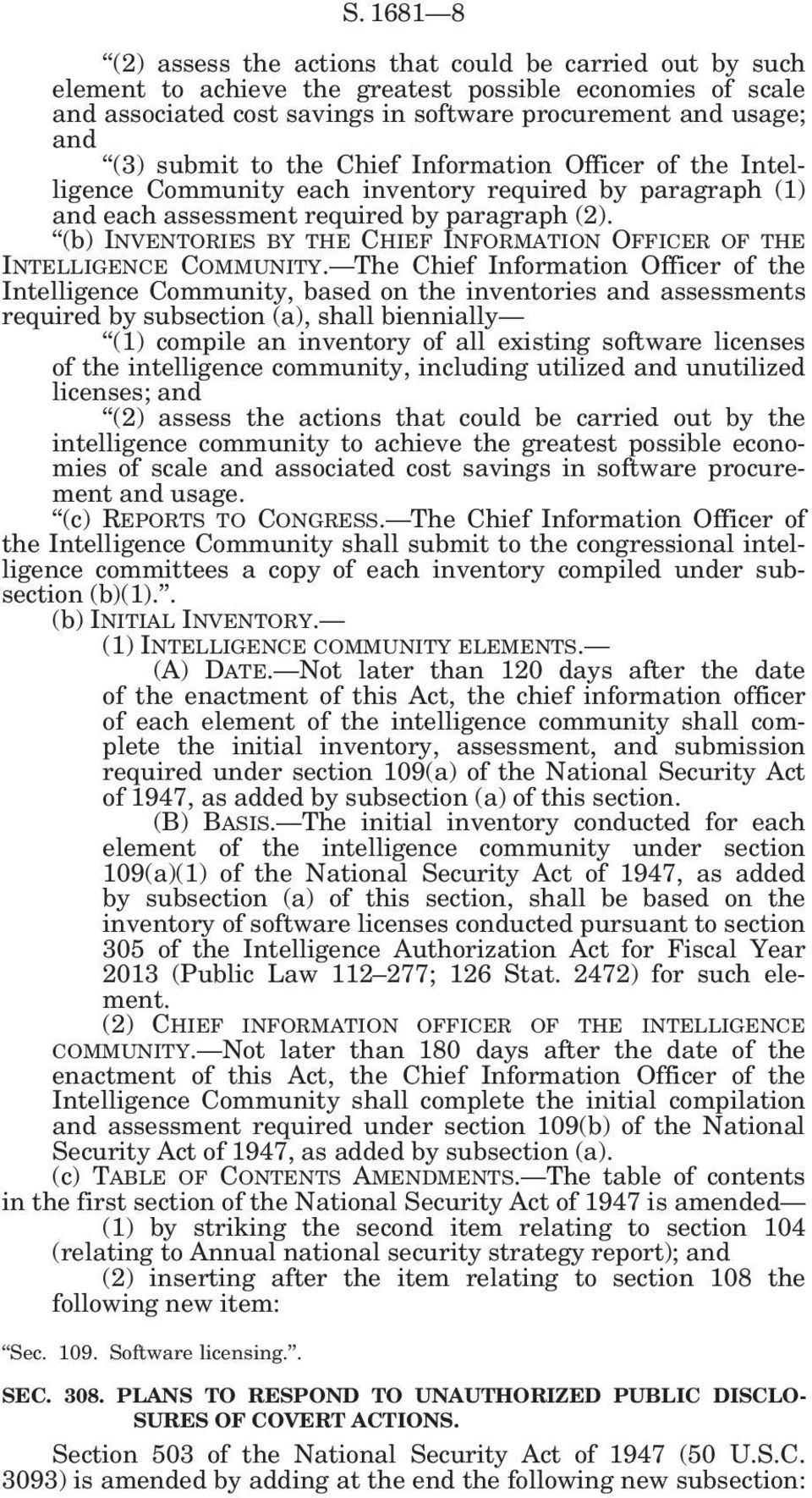 (b) INVENTORIES BY THE CHIEF INFORMATION OFFICER OF THE INTELLIGENCE COMMUNITY.