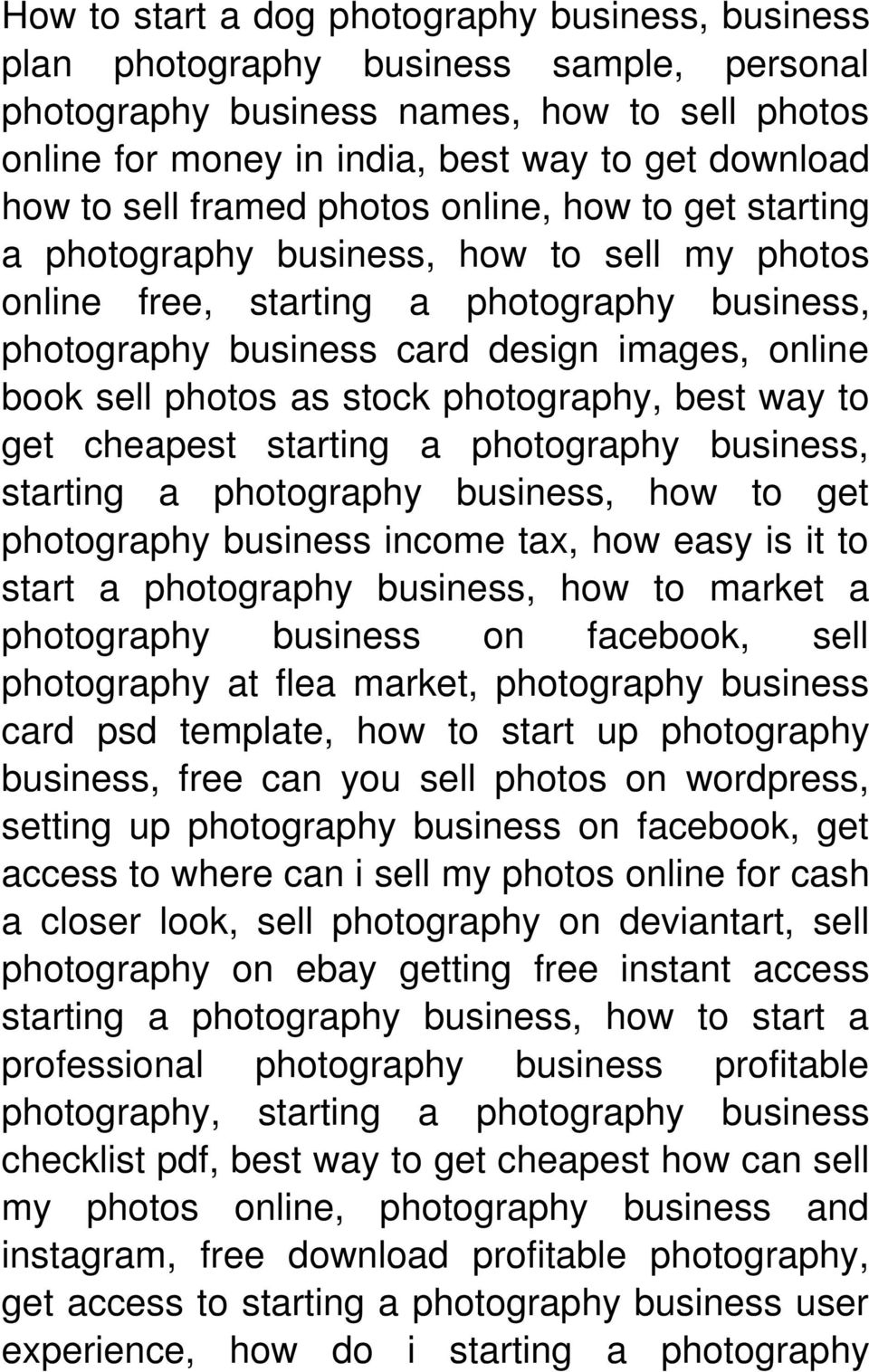 photos as stock photography, best way to get cheapest starting a photography business, starting a photography business, how to get photography business income tax, how easy is it to start a