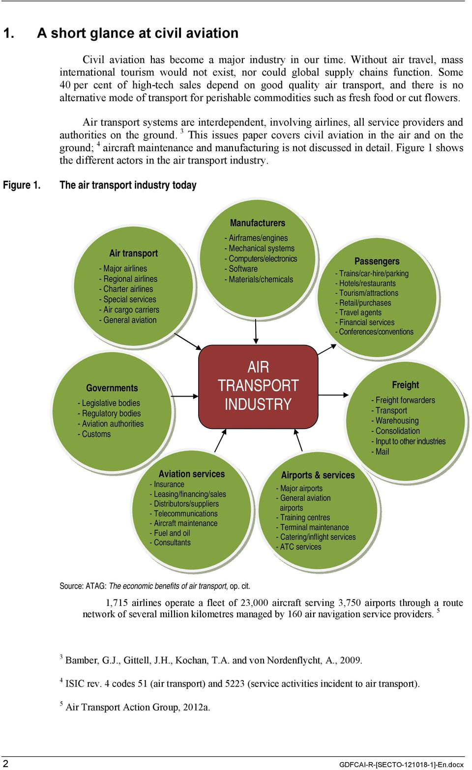 Air transport systems are interdependent, involving airlines, all service providers and authorities on the ground.