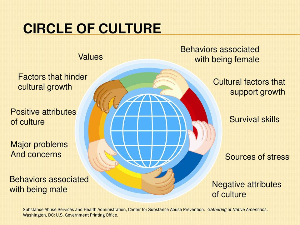 growth Survival skills Sources of stress Negative attributes of culture Substance Abuse Services and Health