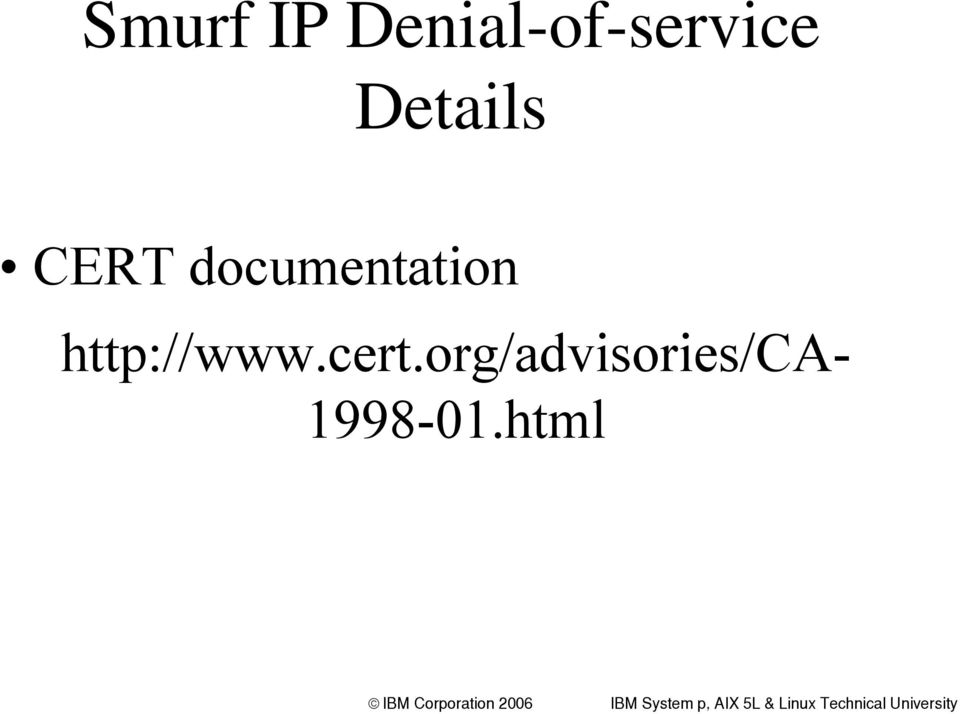CERT documentation