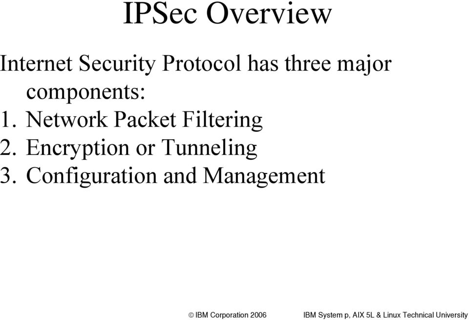 Network Packet Filtering 2.