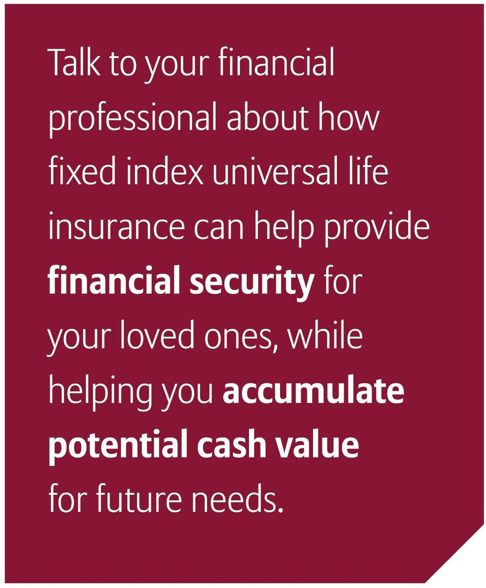 financial security for your loved ones, while