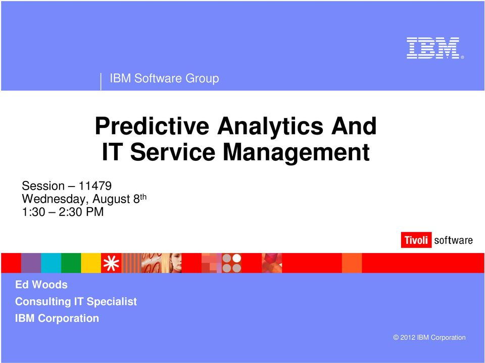 Predictive Analytics And IT Service