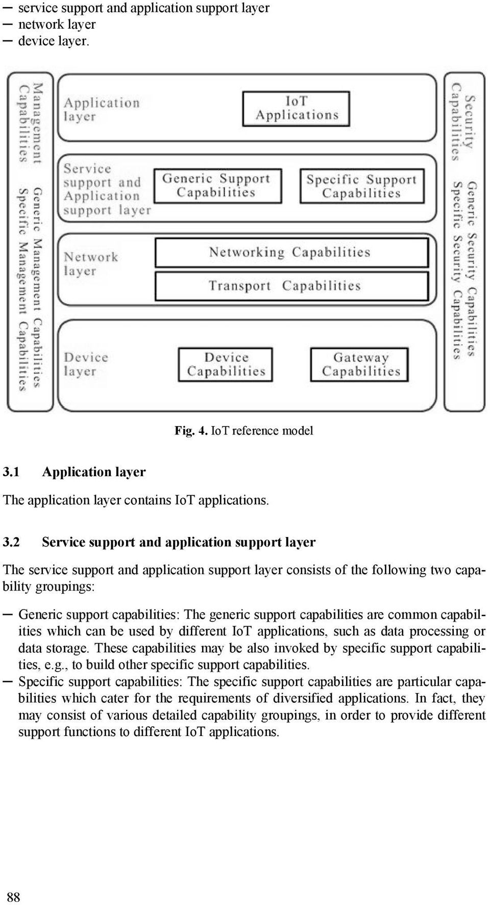 2 Service support and application support layer The service support and application support layer consists of the following two capability groupings: Generic support capabilities: The generic support