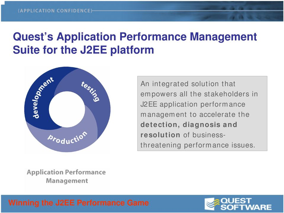 stakeholders in J2EE application performance management to accelerate the