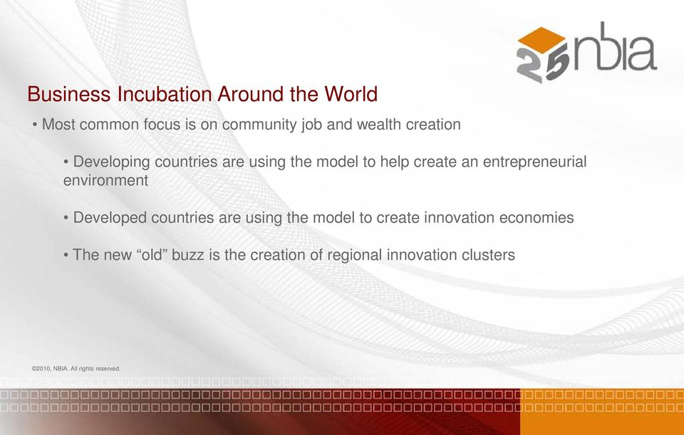 entrepreneurial environment Developed countries are using the model to create