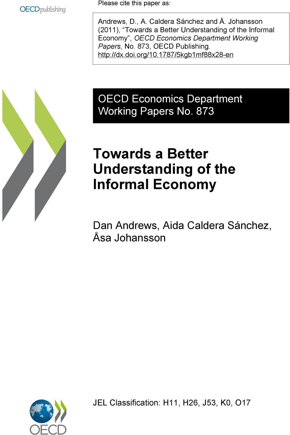 Papers, No. 873, OECD Publishing. http://dx.doi.org/10.