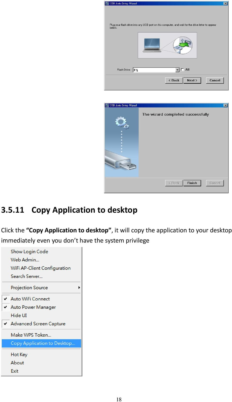 copy the application to your desktop
