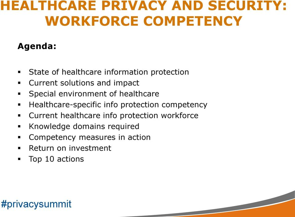 protection competency Current healthcare info protection workforce