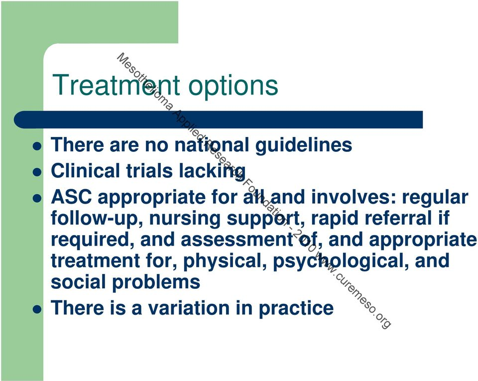 rapid referral if required, and assessment of, and appropriate treatment