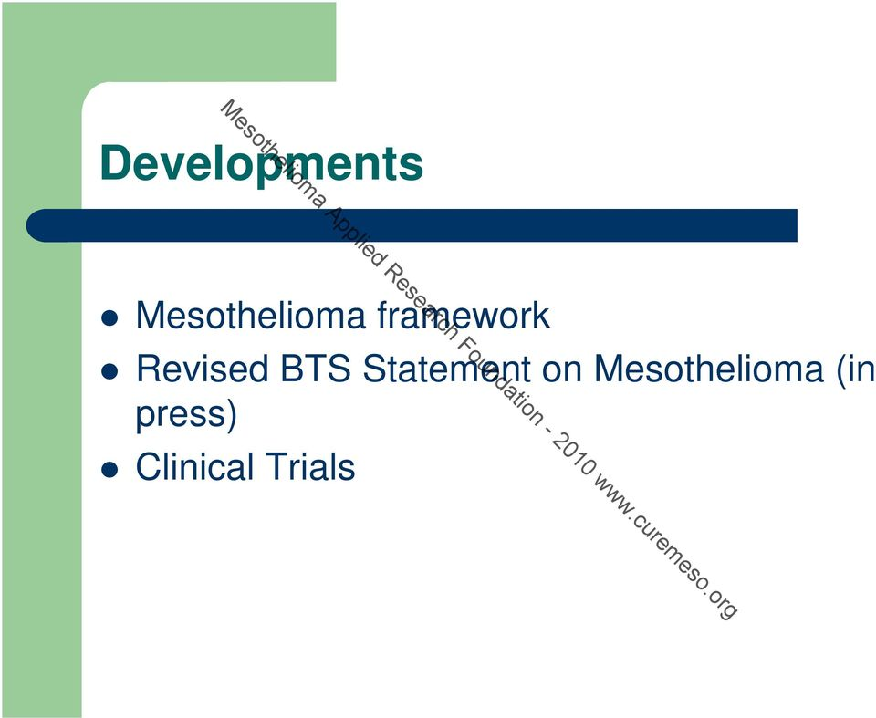 press) Clinical Trials Mesothelioma