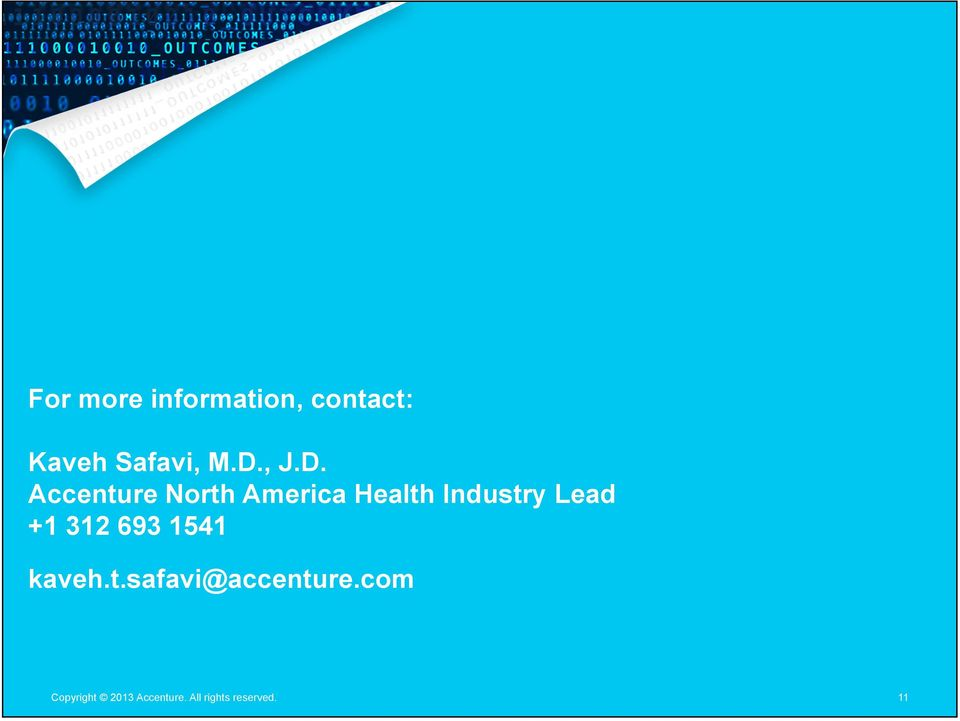 Accenture North America Health Industry Lead +1