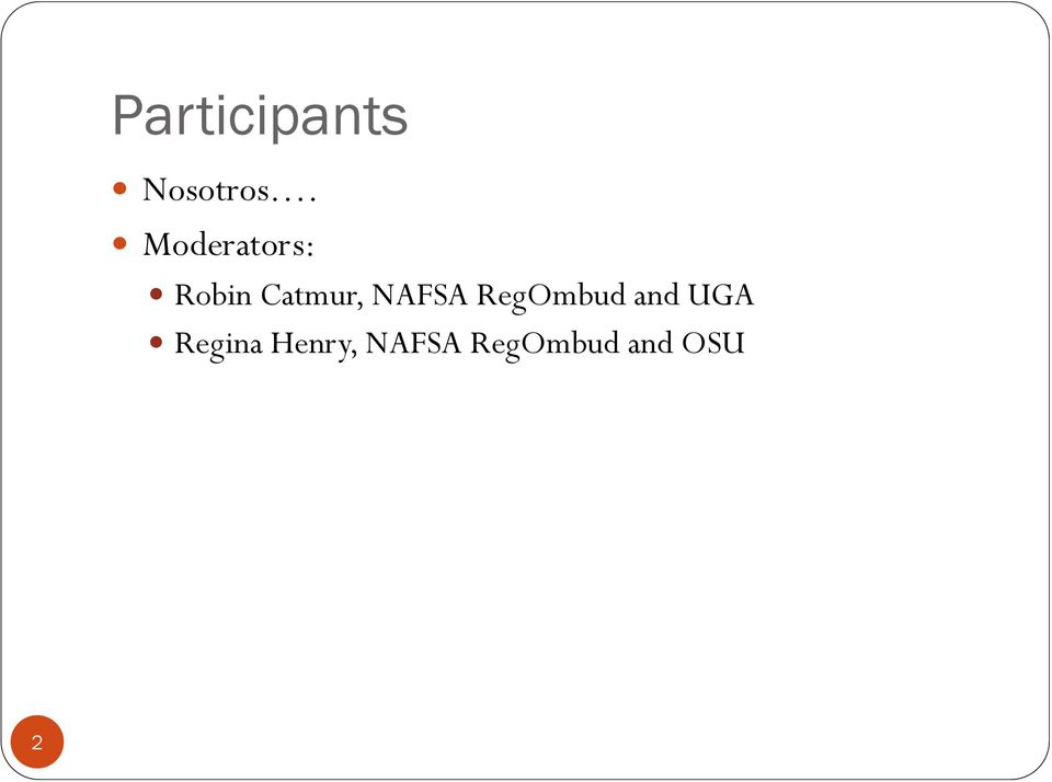 NAFSA RegOmbud and UGA