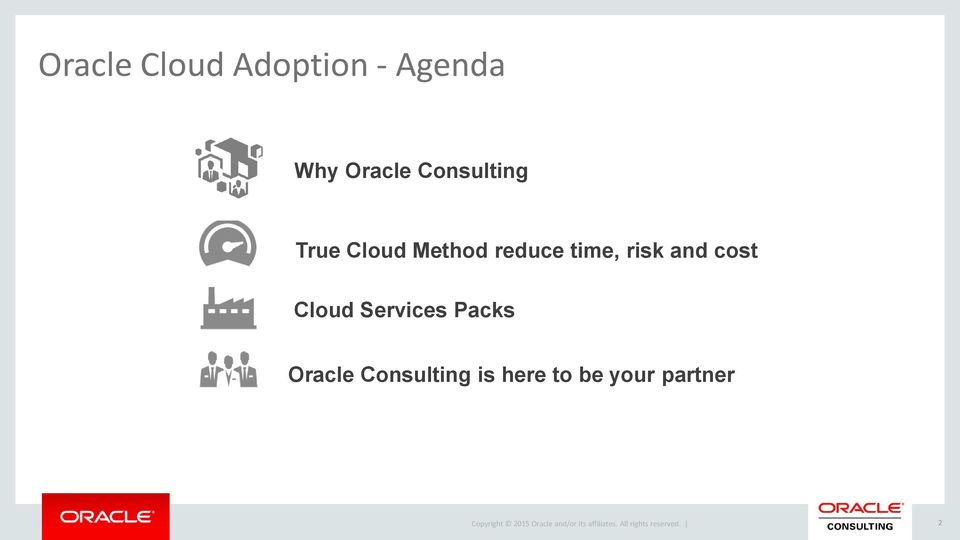 risk and cost Cloud Services Packs Oracle