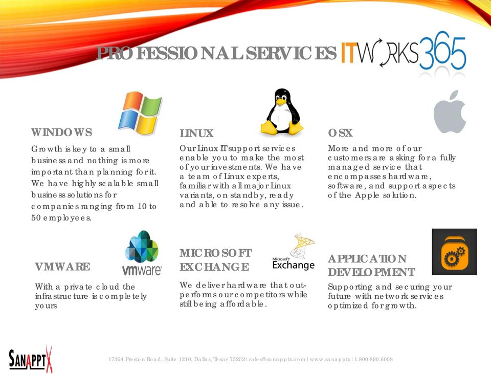 We have a team of Linux experts, familiar with all major Linux variants, on standby, ready and able to resolve any issue.