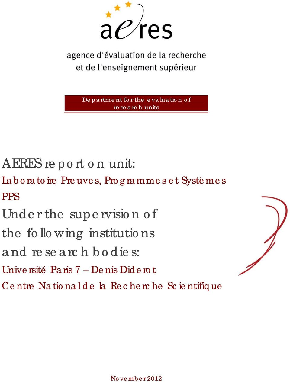 of the following institutions and research bodies: Université Paris 7