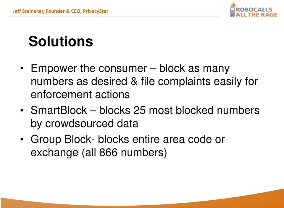 enforcement actions SmartBlock blocks 25 most blocked numbers by