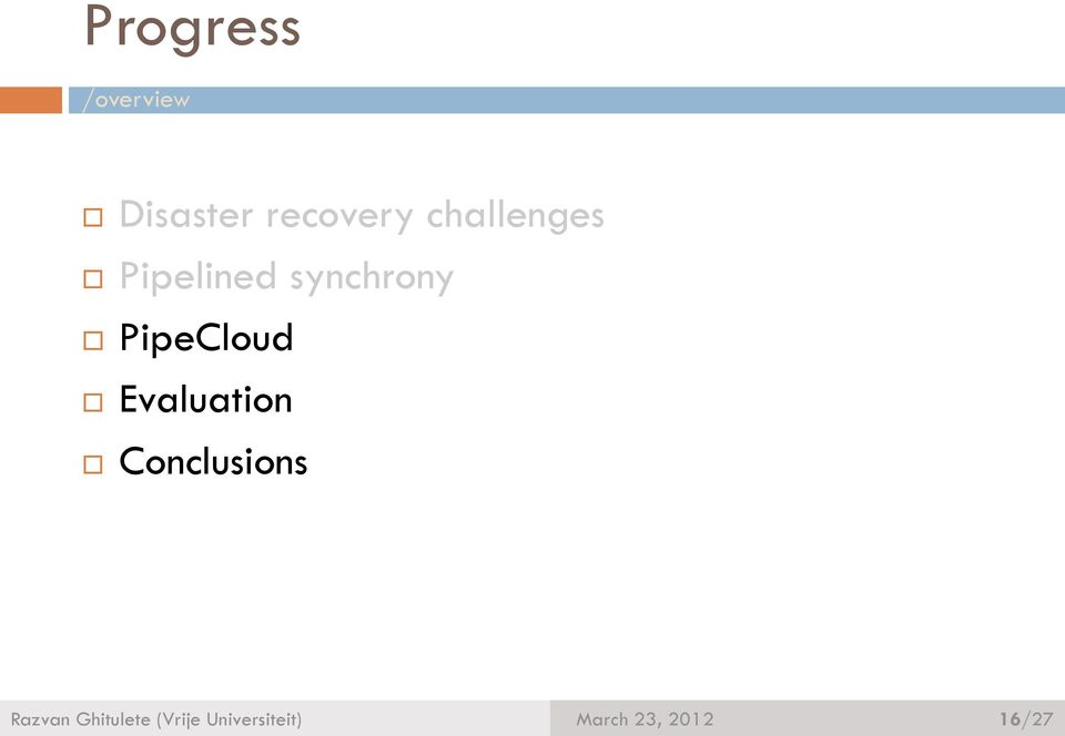 synchrony PipeCloud Evaluation