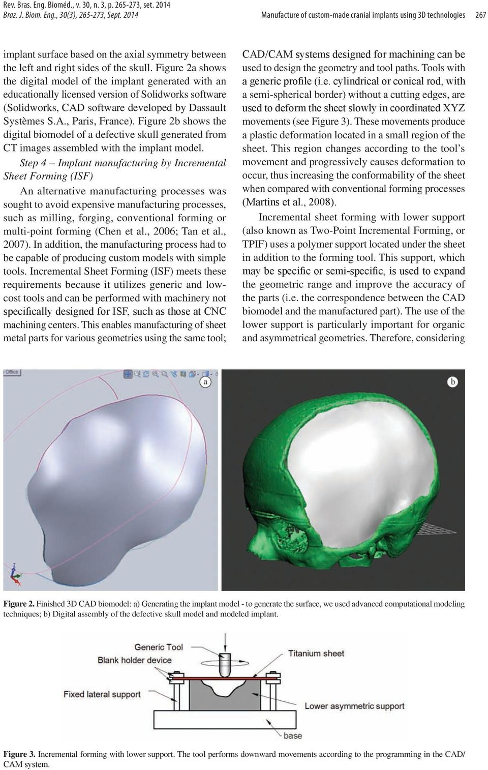 Figure 2a shows the digital model of the implant generated with an educationally licensed version of Solidworks software (Solidworks, CAD software developed by Dassault Systèmes S.A., Paris, France).
