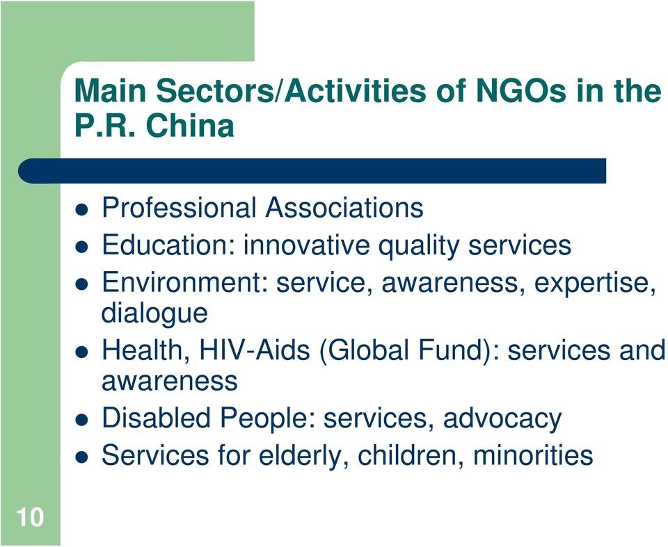 Environment: service, awareness, expertise, dialogue Health, HIV-Aids