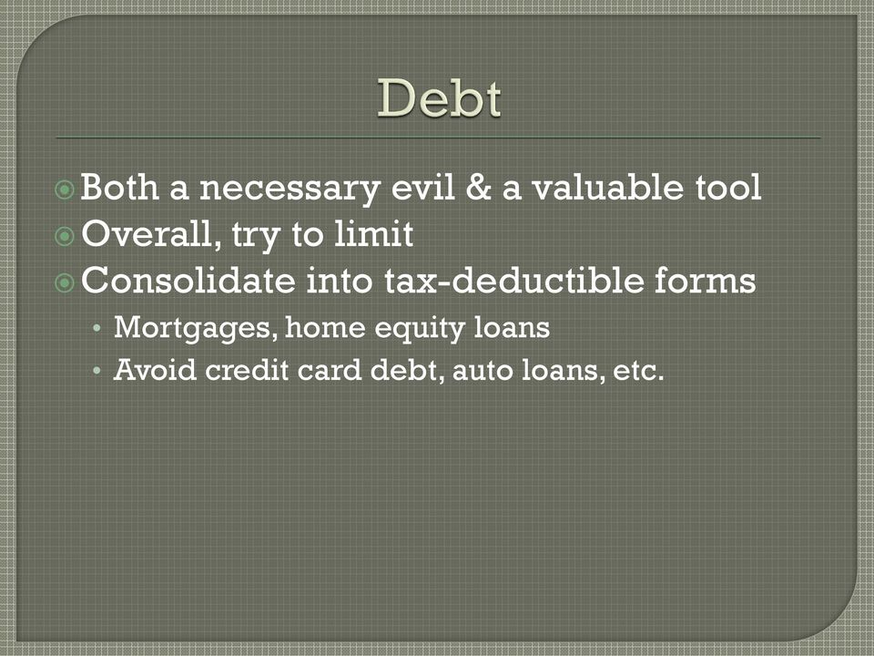 tax-deductible forms Mortgages, home