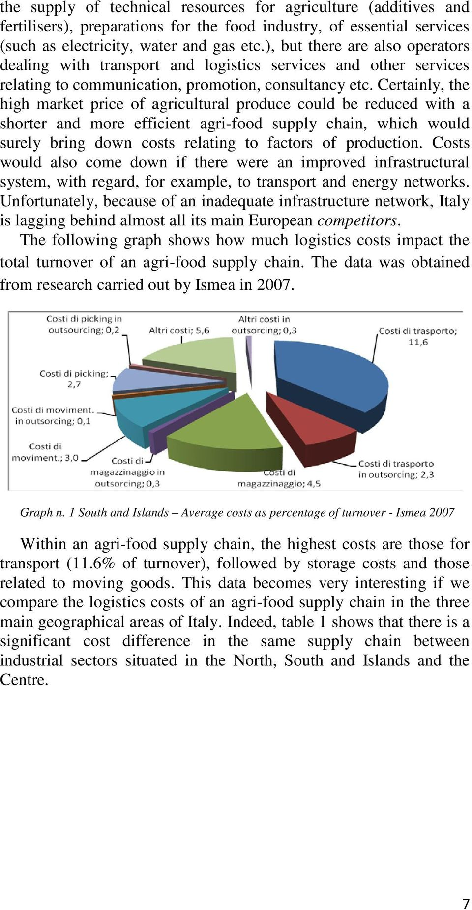 Certainly, the high market price of agricultural produce could be reduced with a shorter and more efficient agri-food supply chain, which would surely bring down costs relating to factors of