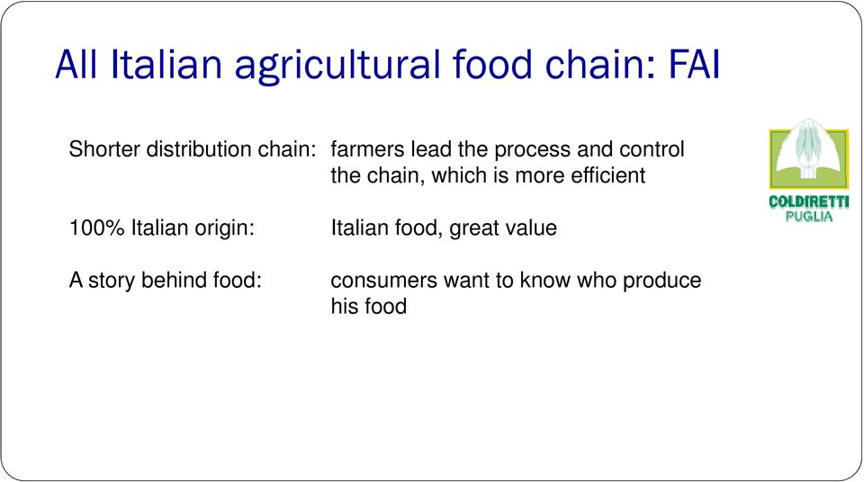 chain, which is more efficient 100% Italian origin: Italian