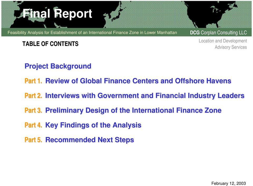 Interviews with Government and Financial Industry Leaders Part 3.