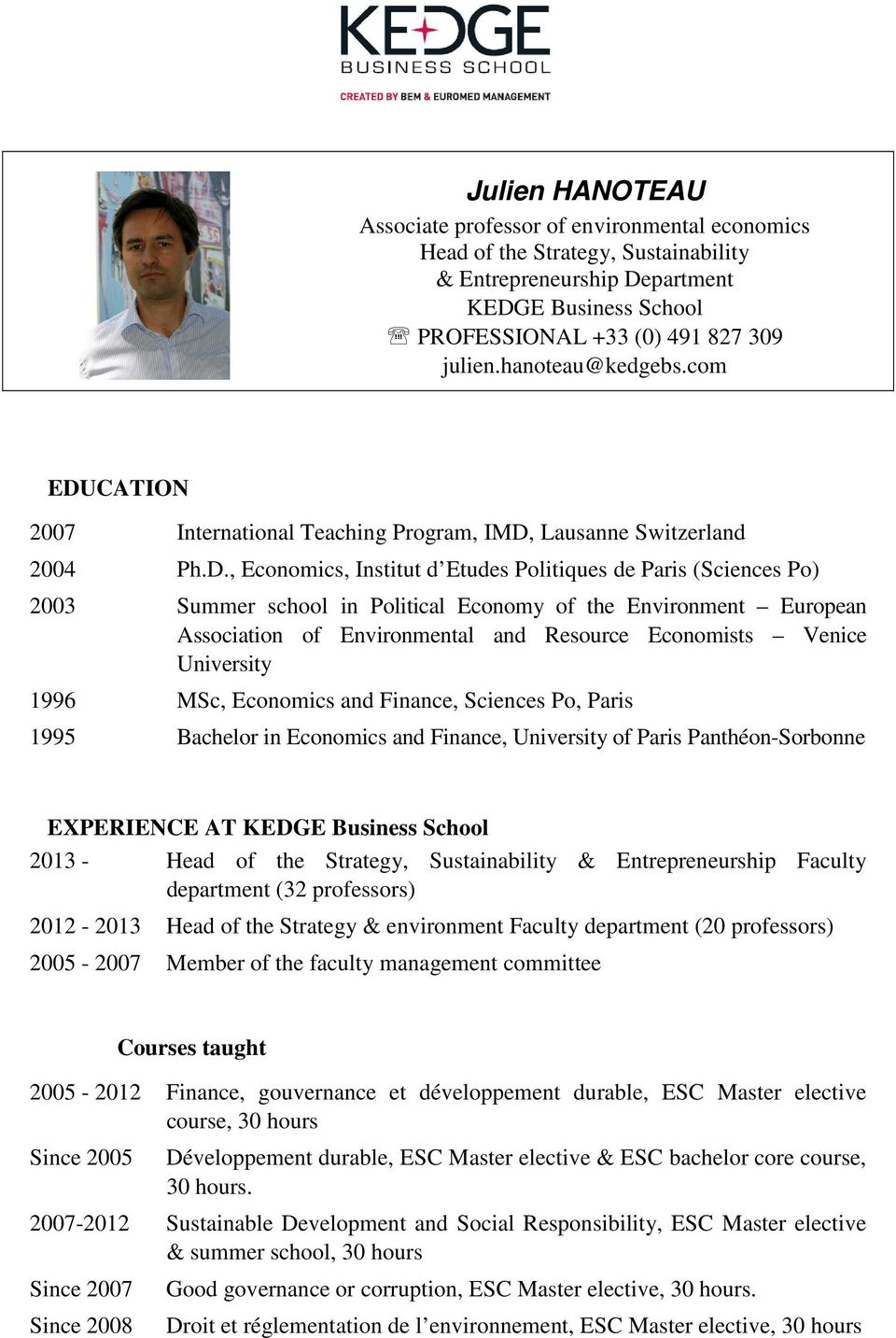 CATION 2007 International Teaching Program, IMD,