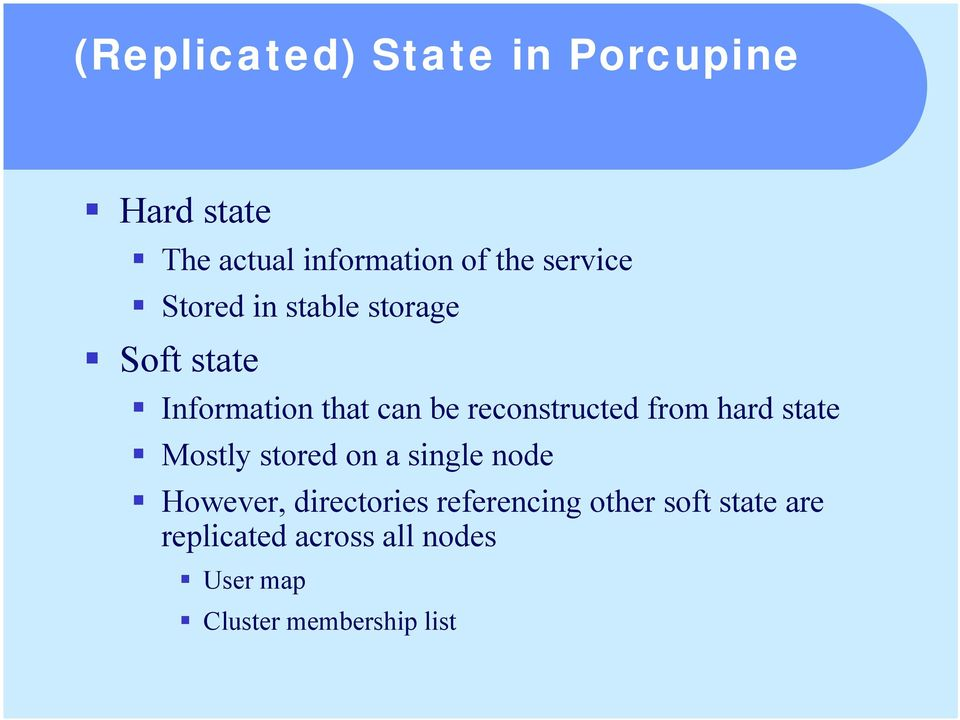 Information that can be reconstructed from hard state!