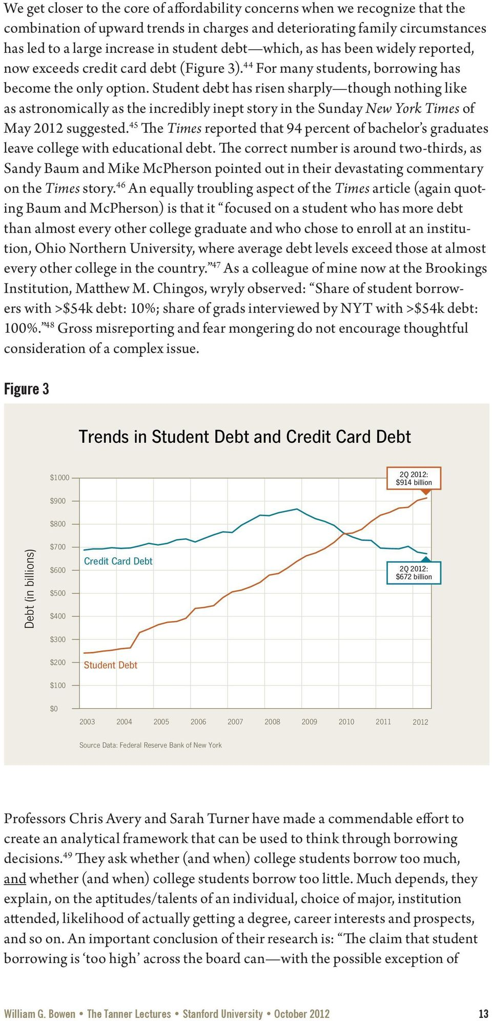 Student debt has risen sharply though nothing like as astronomically as the incredibly inept story in the Sunday New York Times of May 2012 suggested.