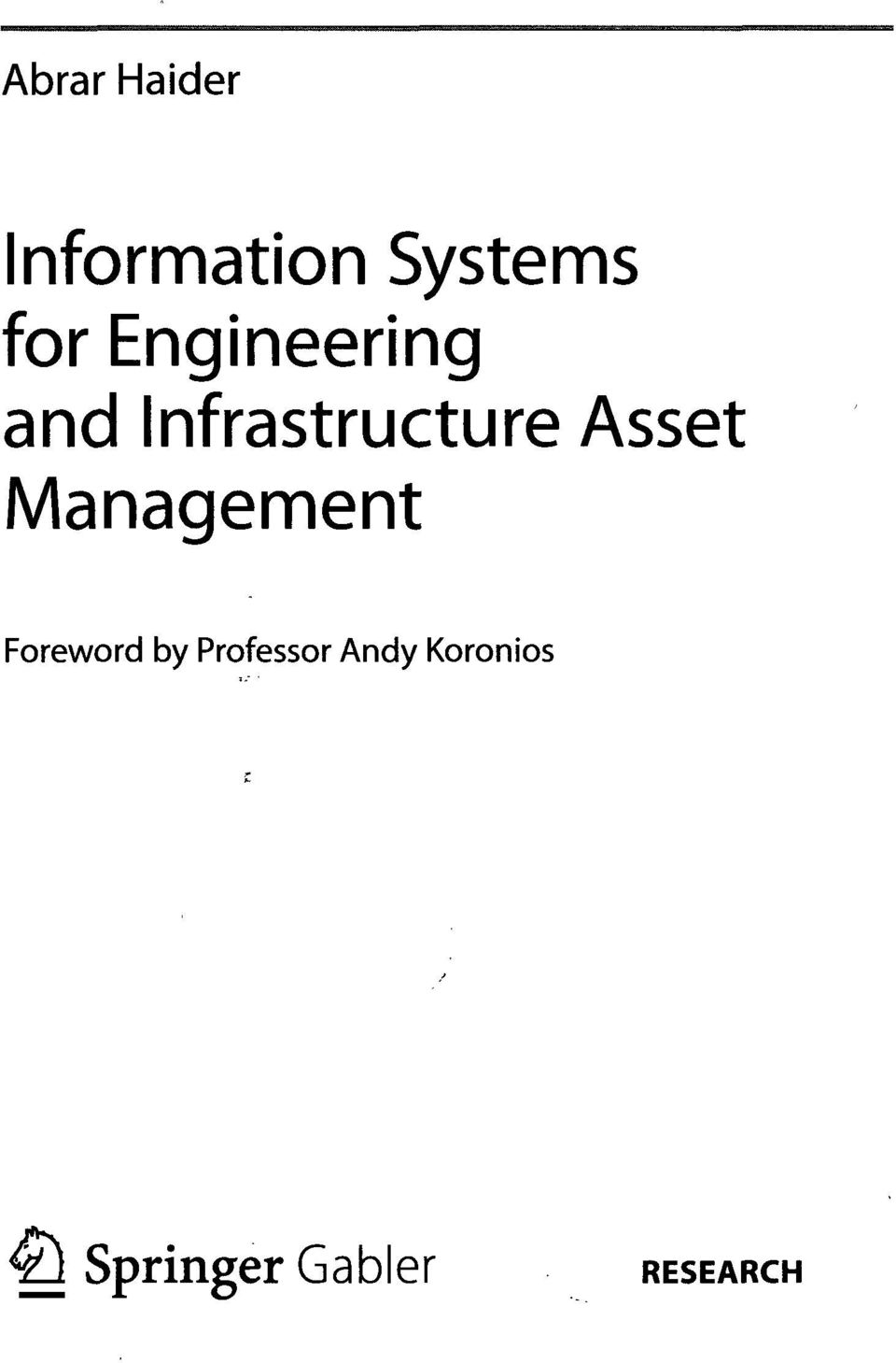 Management Foreword by Professor Andy