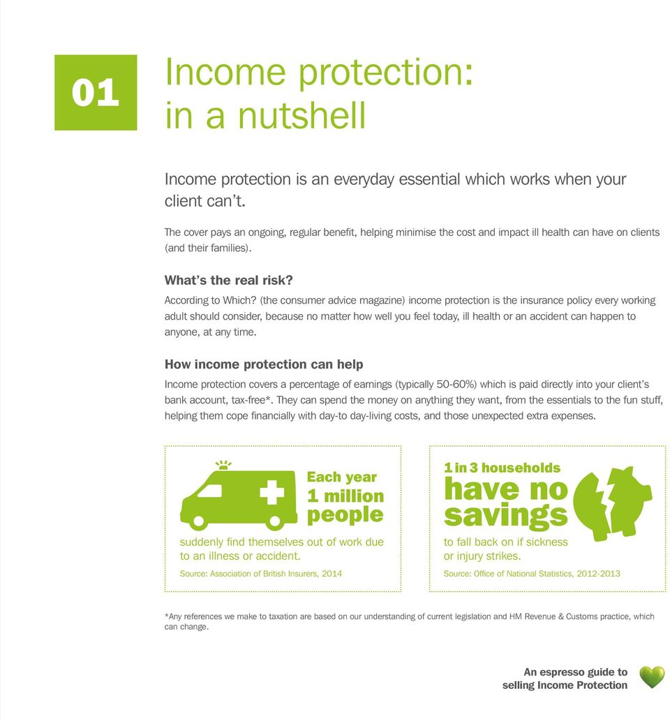 (the consumer advice magazine) income protection is the insurance policy every working adult should consider, because no matter how well you feel today, ill health or an accident can happen to