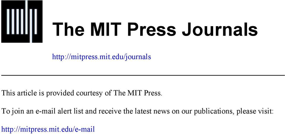 edu/journals This article is provided courtesy of The MIT