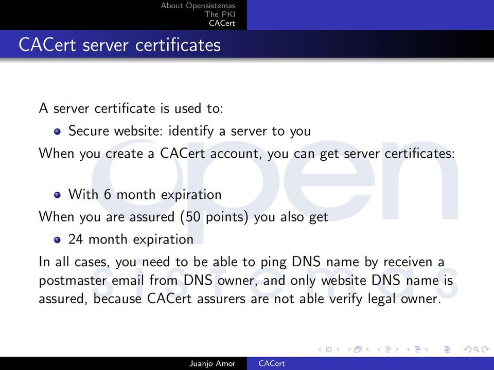 you also get 24 month expiration In all cases, you need to be able to ping DNS name by receiven a