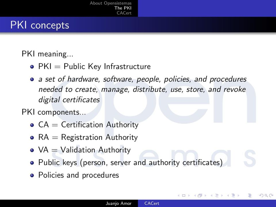 procedures needed to create, manage, distribute, use, store, and revoke digital certificates