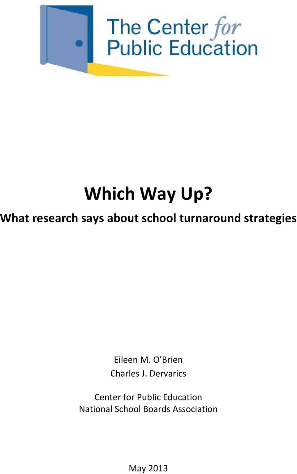 strategies Eileen M. O Brien Charles J.