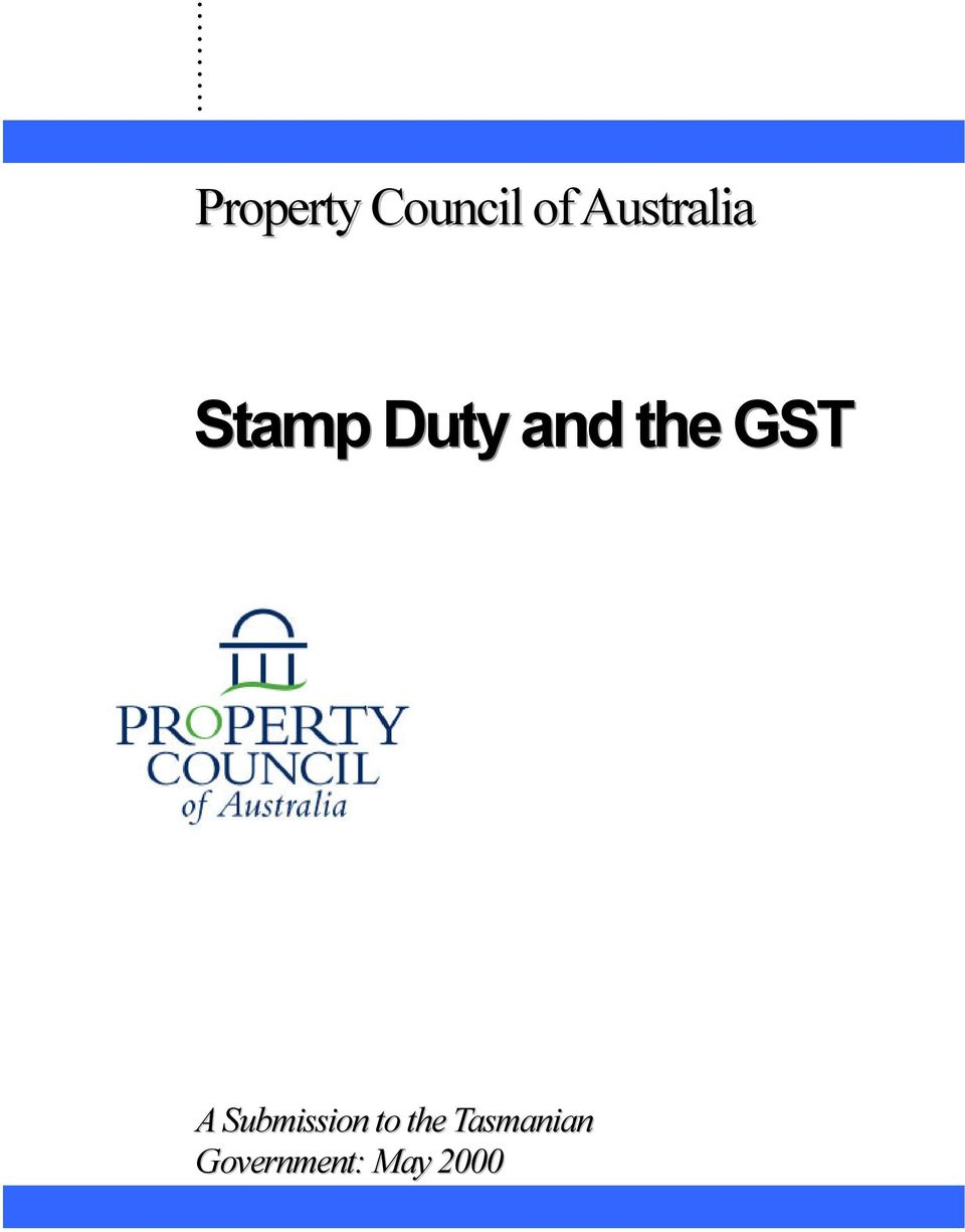 the GST A Submission to