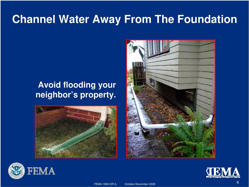 Avoid flooding your