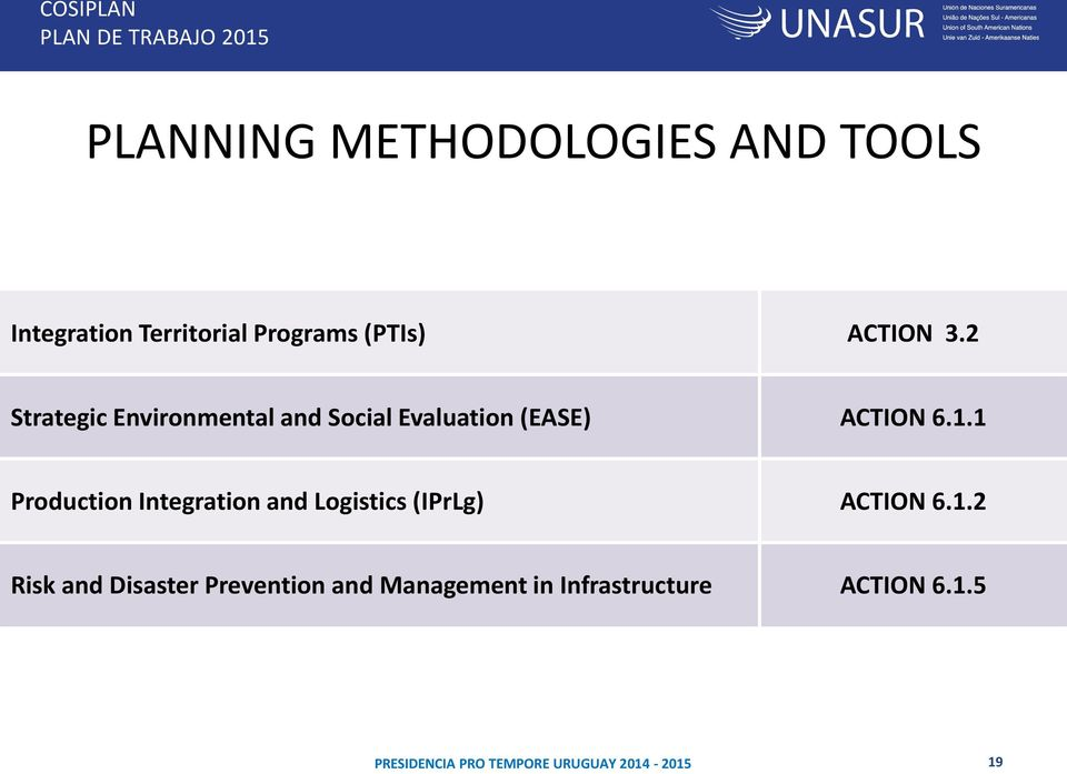 2 Strategic Environmental and Social Evaluation (EASE) ACTION 6.1.