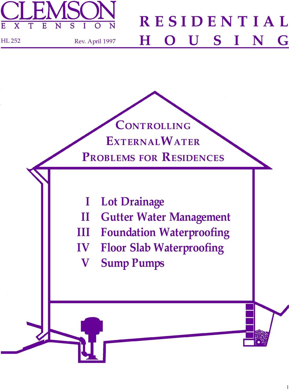 CONTROLLING EXTERNALWATER PROBLEMS FOR RESIDENCES I II