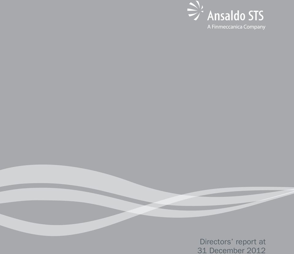 2012 Annual Report Ansaldo