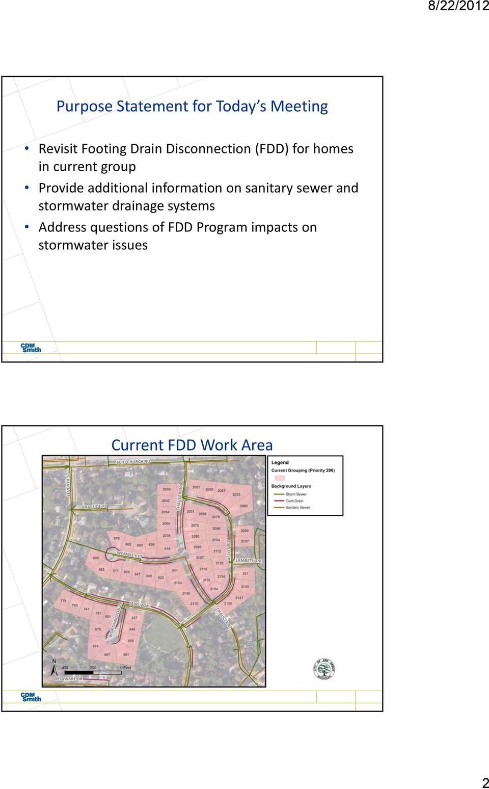 information on sanitary sewer and stormwater drainage systems