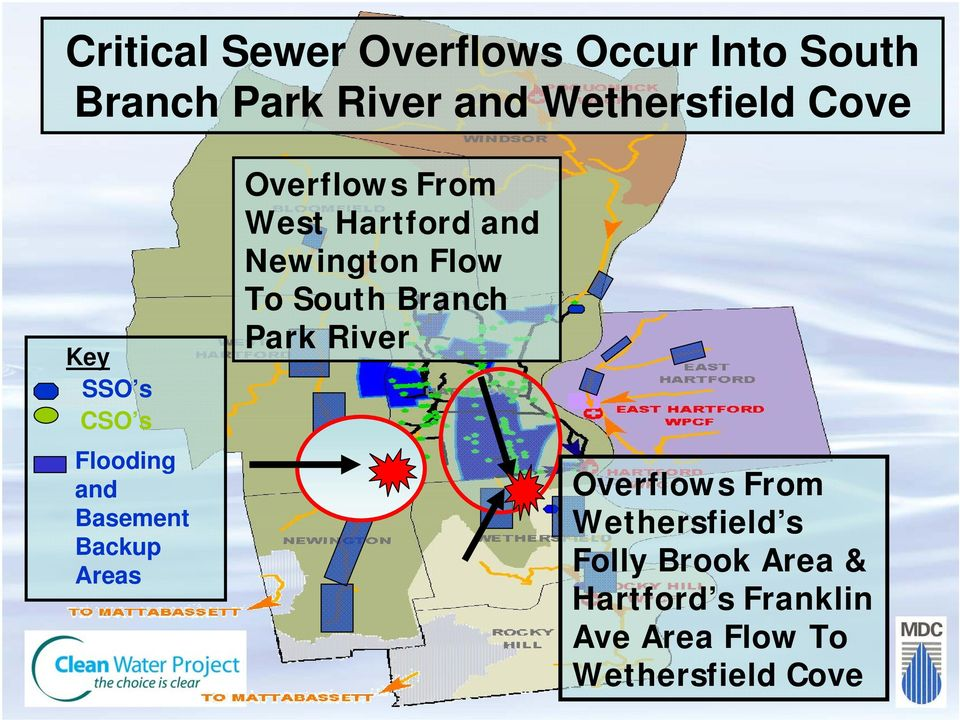Hartford and Newington Flow To South Branch Park River Overflows From